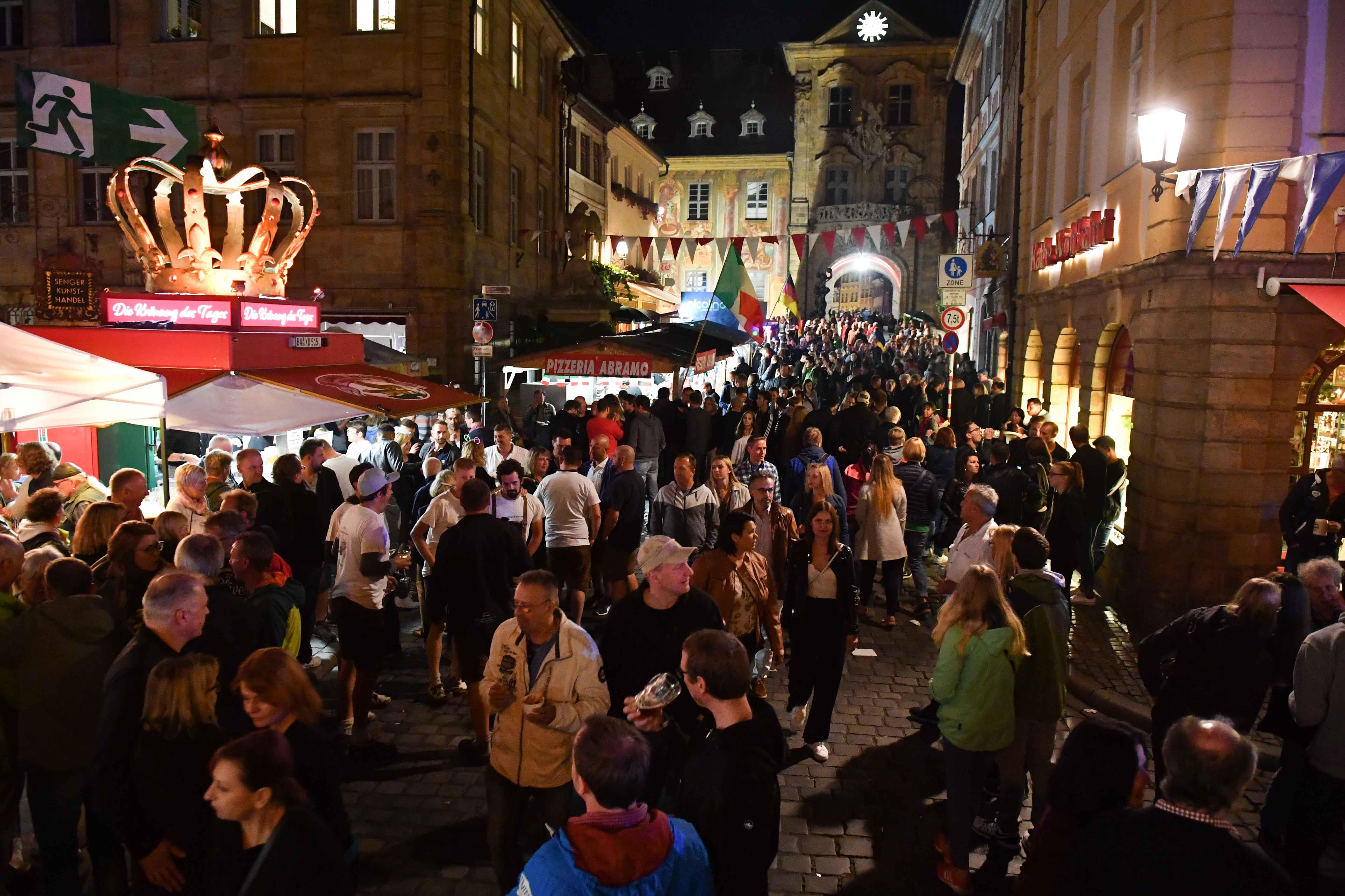Sandkerwa in Bamberg am Samstag Foto: Ronald Rinklef