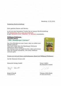 Einladung Wußmann Gärtner